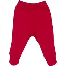 Pantaloni cu botos,Rosu,Cu banda