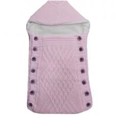 Port bebe imblanit,tricotat roz
