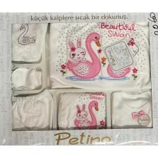 Set 10 piese nou nascut si bebelusi, Petino, 0-3 luni,lebada