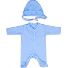 Salopeta nou nascut cu caciulita,albastra