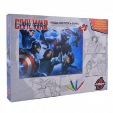 Puzzle 100 piese Capitanul America+cadou