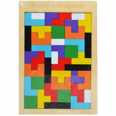 Puzzle lemn, forme geometrice