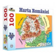 Puzzle Noriel Harta Romaniei, 100 piese
