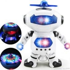 Robot de jucarie, Cu baterii, Alb / albastru