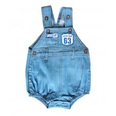 Salopeta Jeans pentru bebelusi