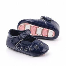 Pantofiori din lac bleumarine cu stelute