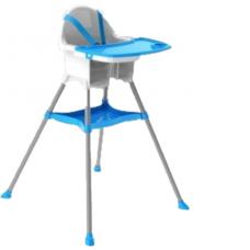Scaun de masa,Tavita detasabila,picioare antiderapante,albastru