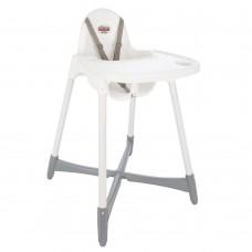 Scaun de masa pentru bebe  ,Cu picioare antiderapante,Alb