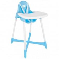 Scaun de masa pentru bebe  ,Cu picioare antiderapante,Albastru