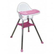 Scaun de masa,Tavita detasabila,picioare antiderapante,roz