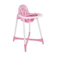 Scaun de masa pentru bebe  ,Cu picioare antiderapante,Roz