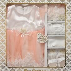 Set rochita sarafan pentru fetite-0-3 luni-Roz