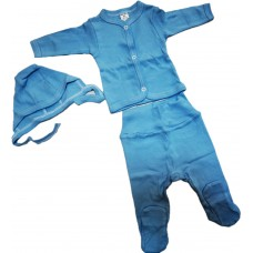 Set 3 piese bebelusi,albastru
