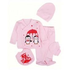 Set 5 piese haine bebe,0-3 luni,elefantei