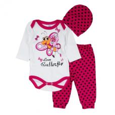 Set 3 piese albinuta roz,pentru fetite