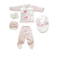 Set 5 piese bebelus,iepuras roz