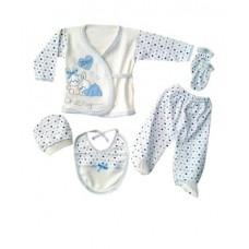 Set 5 piese bebelus,iepuras albastru