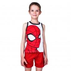 Pijama Spiderman,alb cu rosu