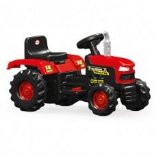 Tractor cu acumulator 6V, 52x83x45cm,cu telecomanda parentala,rosu