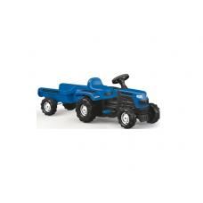 Tractor cu remorca,pedale,Albastru