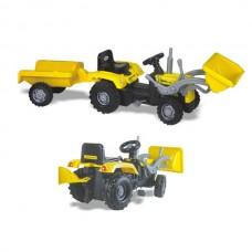 Tractor cu remorca,Cu pedale,Scaun cu spatar.