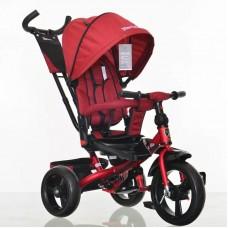 Tricicleta cu scaun reversibil Still, 6-36 luni, cu pozitie de somn, roata plina,ROSIE