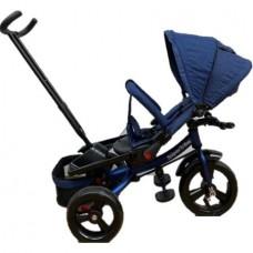 Tricicleta cu scaun reversibil Still, 6-36 luni, cu pozitie de somn, roata plina,Albastru