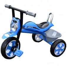 Tricicleta cu muzica si lumina,cadru metalic si sa ergonomica,Albastra
