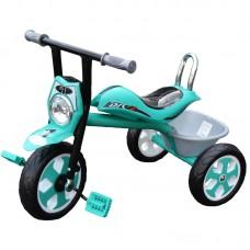 Tricicleta cu muzica si lumina,cadru metalic si sa ergonomica,Vernil