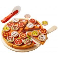 Jucarie Montessori,pizza,din lemn